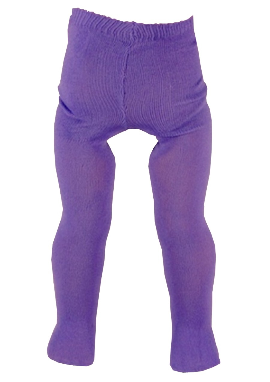 Purple Tights for 18 inch Doll Clothes American Girl Bitty Baby Kidz n Cats